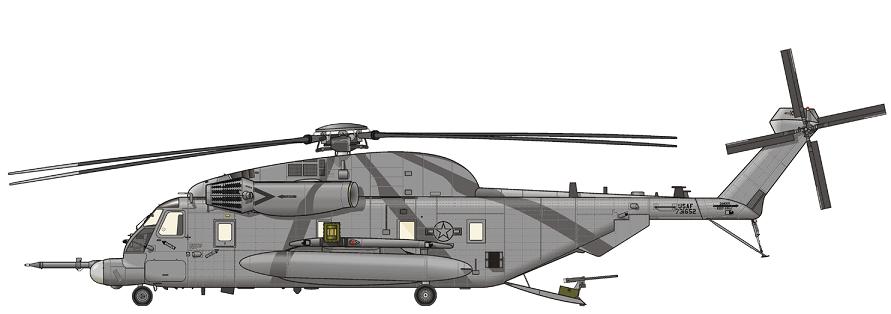 Profil couleur du Sikorsky MH-53 Pave Low