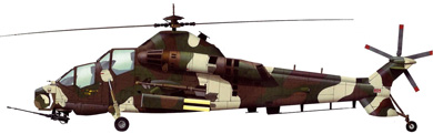 Profil couleur du Denel AH-2 Rooivalk