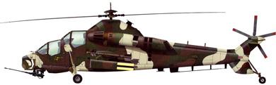Profil couleur du Denel AH-2 Rooivalk