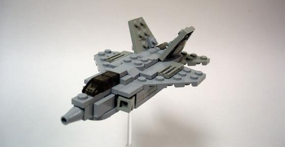 Lego des avions en microscale - Avion de chasse en lego ...