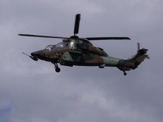Un hélicoptère Tigre similaire à ceux engagés dans l'opération en Somalie.