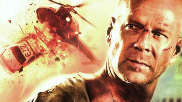 Bruce Willis, alias John Mc Clane, dans le quatrième opus des Die Hard.