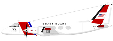 Profil couleur du Grumman VC-4 Gulfstream / TC-4 Academe