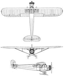 Plan 3 vues du Fairchild Canada FC-71