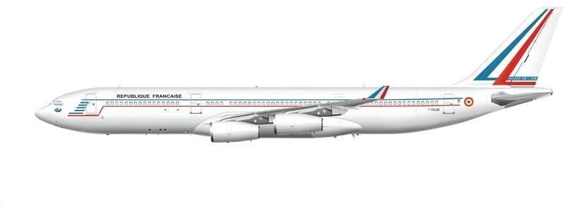 Profil couleur du Airbus A340 TLRA