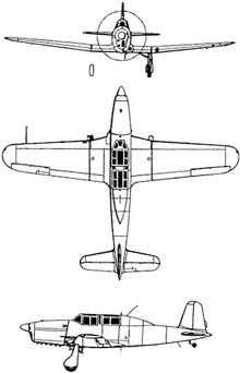 Plan 3 vues du Fiat G.46