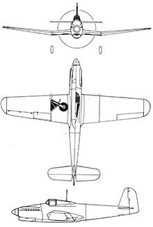 Plan 3 vues du Breda Ba.201