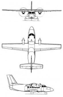 Plan 3 vues du Let L-410