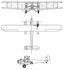 Plan 3 vues du Curtiss B-2 Condor