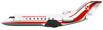 Profil couleur du Yakovlev Yak-40 'Codling'