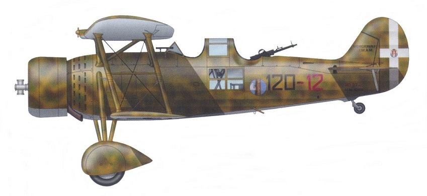 Profil couleur du Meridionali Ro.37