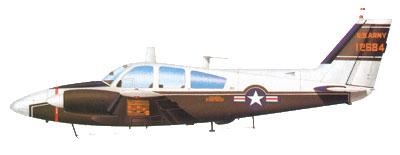 Profil couleur du Beechcraft U-8 / RU-8 Seminole / T-42 Cochise