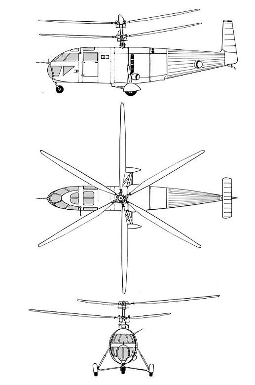 Plan 3 vues du Breguet G.11 / G.111