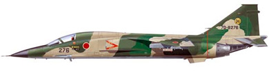 Profil couleur du Mitsubishi F-1