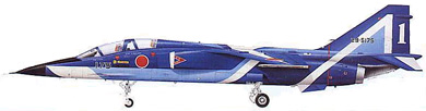 Profil couleur du Mitsubishi T-2