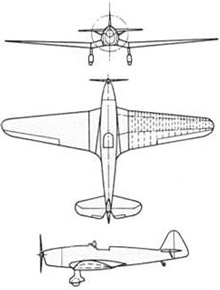 Plan 3 vues du Klemm Kl 35