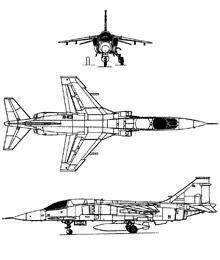 Plan 3 vues du Mitsubishi F-1