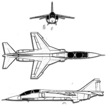 Plan 3 vues du Mitsubishi T-2