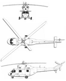 Plan 3 vues du PZL W-3 Sokol / Anakonda