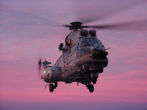 Le Cougar, un des principaux hélicoptères militaires de sauvetage au Chili.
