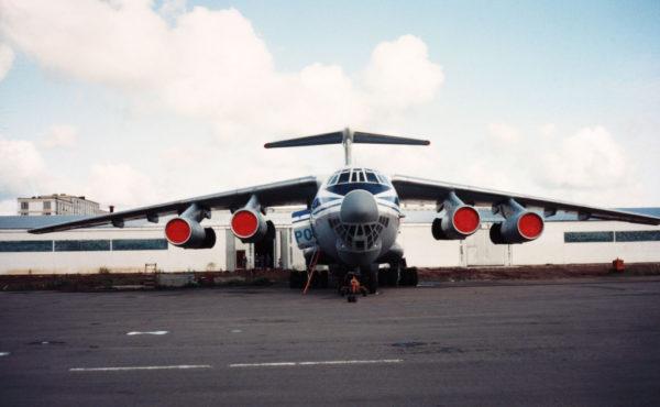 Le cargo militaire Ilyushin Il-76 aux couleurs d'Aeroflot.