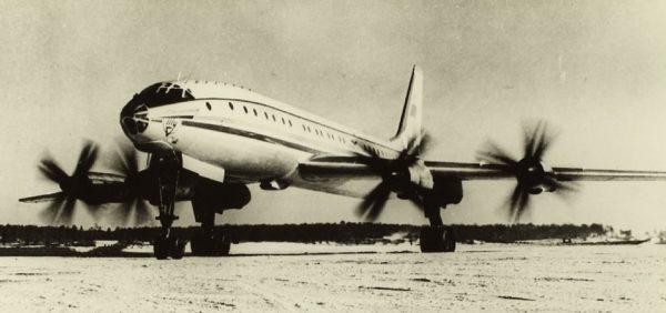Le Tupolev Tu-114, l'un des symboles d'Aeroflot durant les premières années de la Guerre Froide.