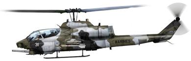 Profil couleur du Bell AH-1J Sea Cobra / AH-1W Super Cobra / AH-1Y Viper