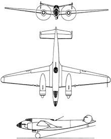 Plan 3 vues du Lioré et Olivier LeO.451