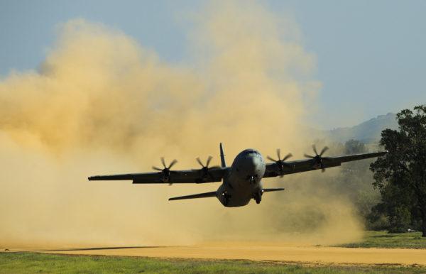 Lockheed-Martin C-130J Hercules.