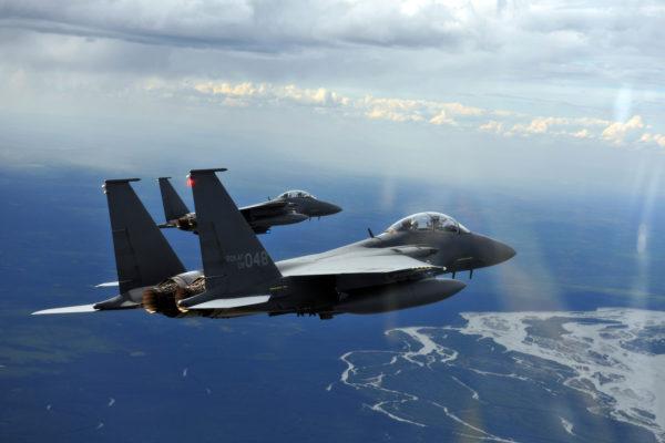 Boeing F-15K Strike Eagle.