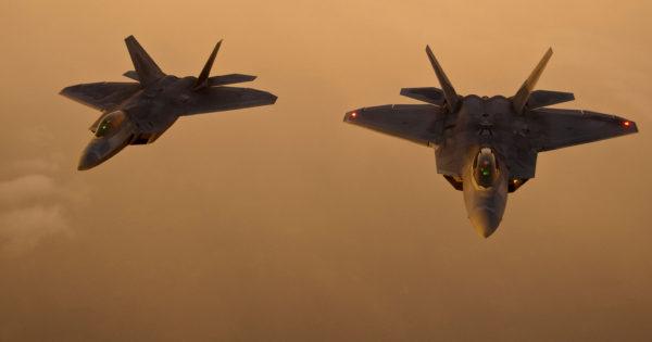 Lockheed-Martin F-22A Raptor.
