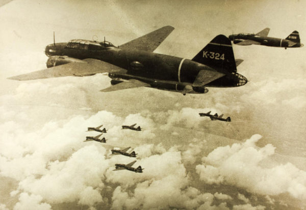 Le bombardier lourd Mitsubishi G4M.
