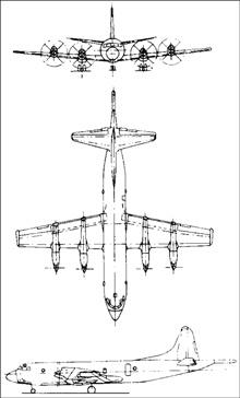 Plan 3 vues du Lockheed CP-140 Aurora / Arcturus
