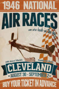 Vintage-Retro-poster-Cleveland-Air-Races-1946-copyright-Pichon