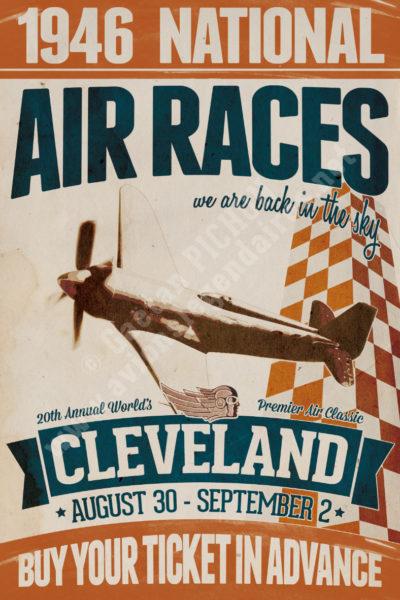 Vintage-Retro-poster-Cleveland-Air-Races-1946-copyright-Pichon