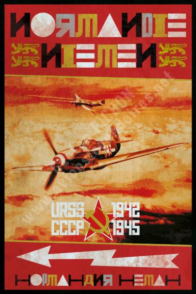 poster-affiche-normandie-niemen-1942-1945-copyright-Pichon
