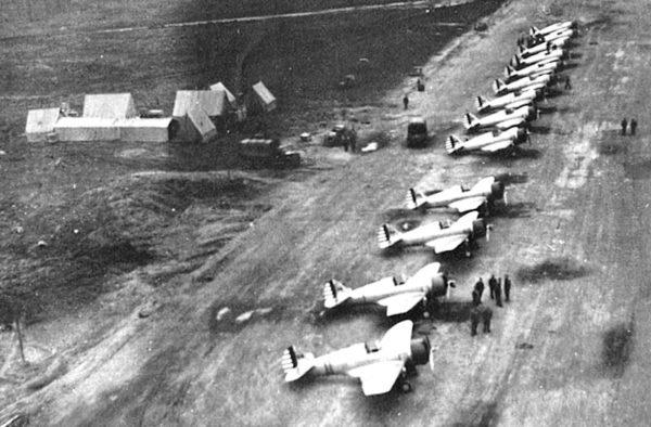 Alaska P-36_Hawks_-_Elmendorf_-_18th_Pursuit_Squadron_-_August_1941