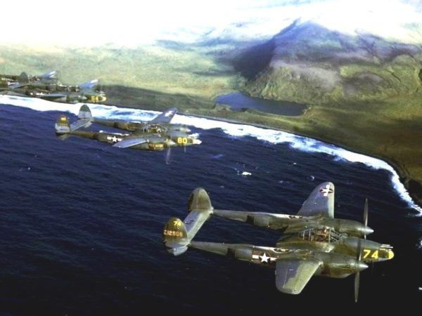 Alaska p-38s-flying-over-the-aleutians-1944