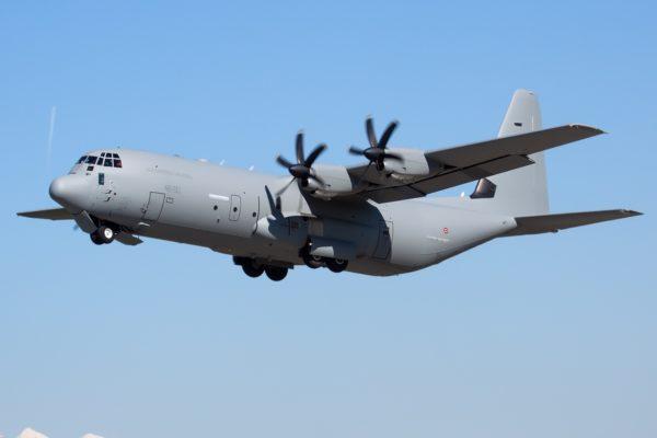 Lockheed C-130J-30 Hercules.