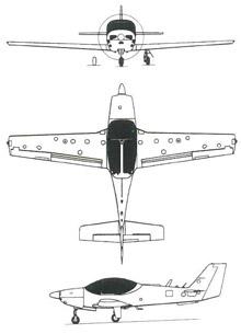 Plan 3 vues du Grob G.120