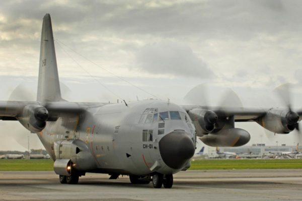 Lockheed C-130H Hercules.