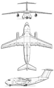 Plan 3 vues du Kawasaki C-1 / EC-1