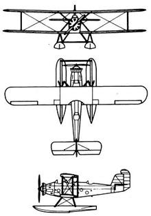 Plan 3 vues du Martin T3M / T4M