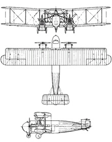 Plan 3 vues du Vickers Vernon
