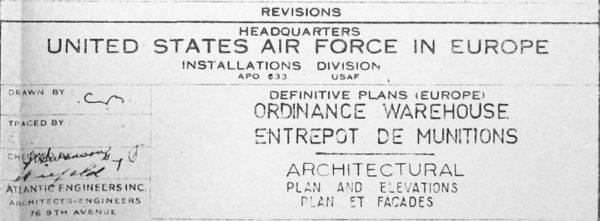 Les plans utilisés pour le projet de Saint-Nazaire sont en réalité des copies de ceux de la base de Châteauroux (7)