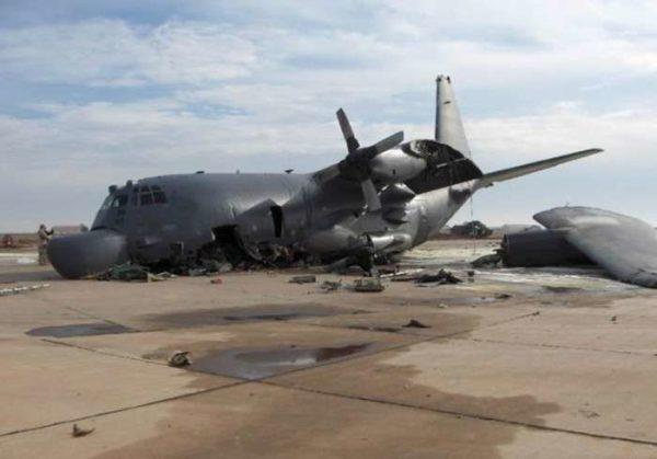 Encore un C-130 qui a connu quelques galères à l'atterrissage