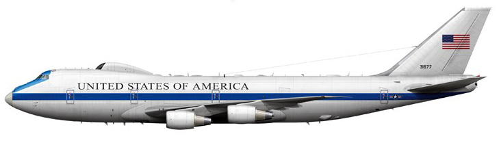 Profil couleur du Boeing E-4 Nightwatch