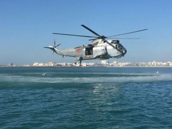Protégeant le littoral espagnol.