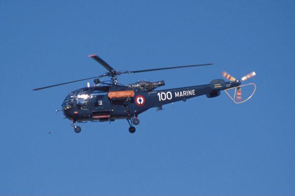 Alouette III aux couleurs de la Marine Nationale.