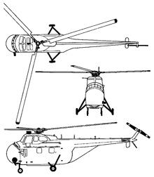 Plan 3 vues du Sikorsky H-19 Chickasaw